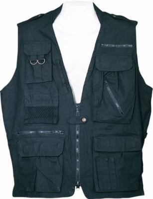 Humvee Safari Vest - Black, X Large
