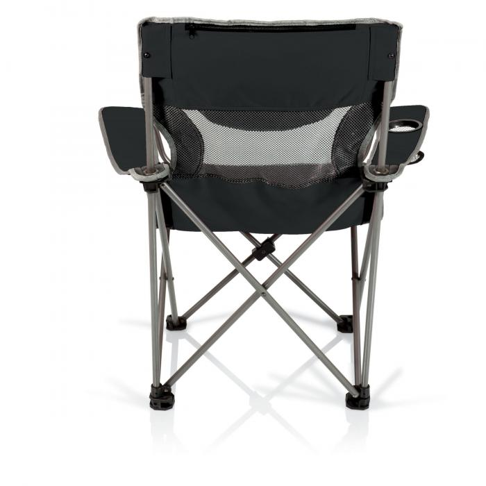 Picnic Time Campsite Folding Camp Chair - Black/Grey