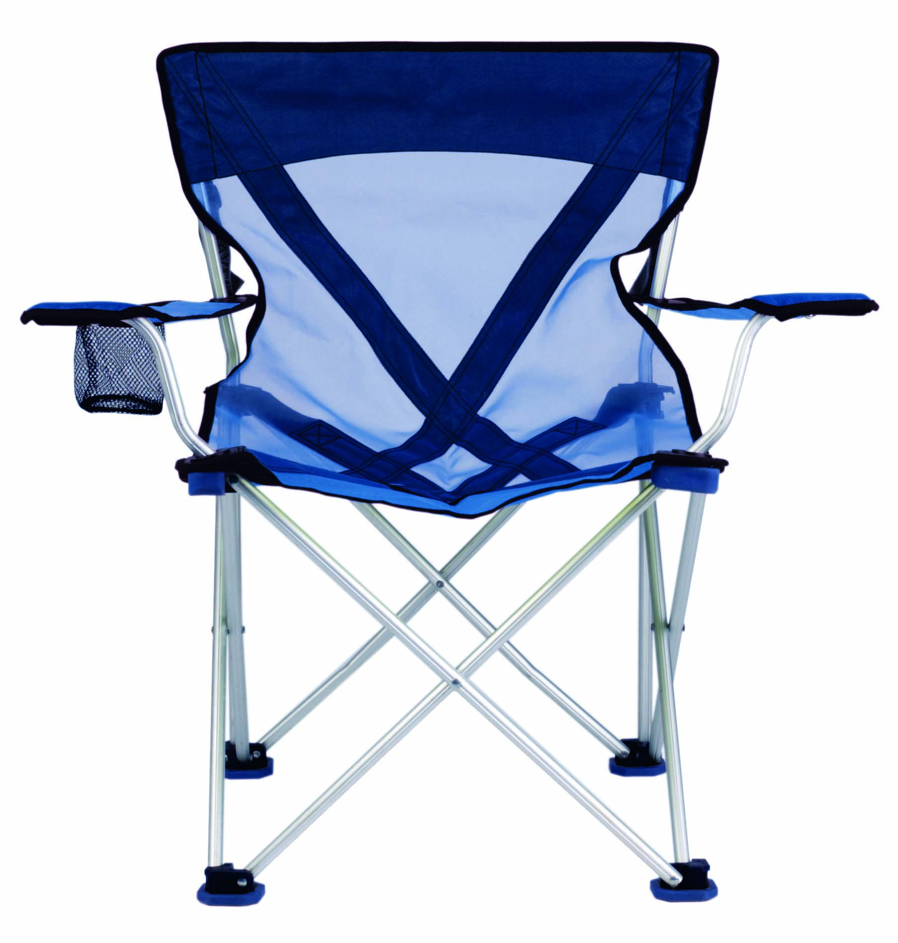 Chair Teddy Aluminum Camping Chair 300 Pound Capacity Blue