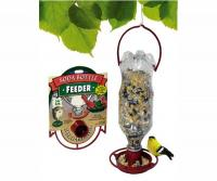 Gadjit Soda Bottle Bird Feeder, Terra Cotta