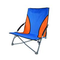 Stansport Low Profile Fold-Up Chair - Blue/Orange