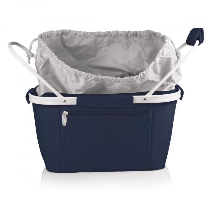 Picnic Time Metro Waterproof Polyester Canvas Empty Picnic Basket, Navy