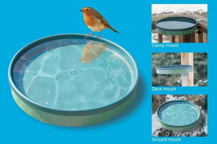 Farm Innovators 3-In-1 Heated Birdbath Green/Light Green