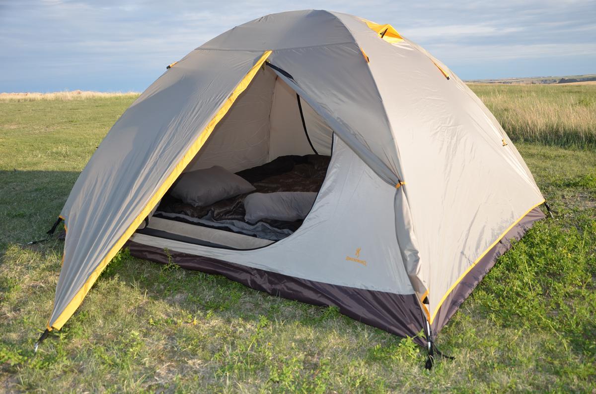 Browning C&ing Greystone 4 Grey/Gold Tent & Camping Greystone 4 Grey/Gold Tent