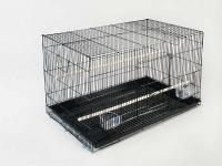 "Flight Cage 30"" Wht/blk 4/case"