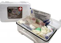 First Aid White Kit  Series with all items Necessary to Help a Group of About 8