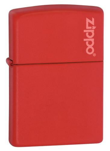 Zippo Red Matte Lighter with Zippo Logo