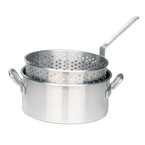 Bayou Classic 10-Quart Aluminum Fry Pot with Basket - No Lid