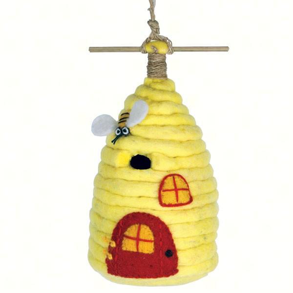 DZI Handmade Designs Beehive Felt Birdhouse