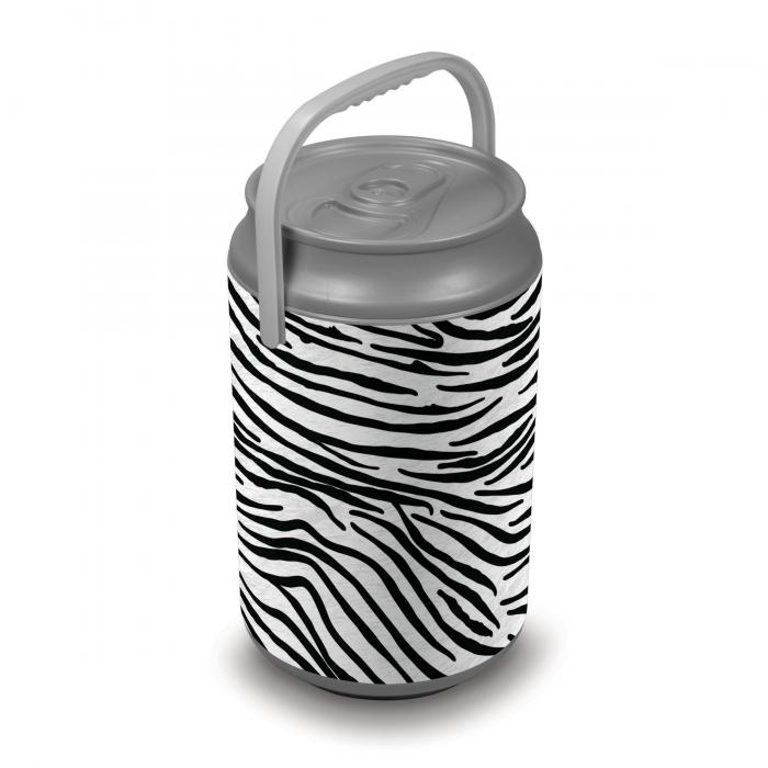 Picnic Time Extra Large Insulated Mega Can Cooler, Zebra Print Can