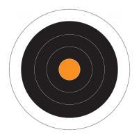 Paper Target Circle Dot 10X10 10Pk