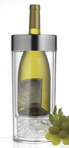 Prodyne Acrylic Wine Cooler With Chrome Brushed Rim