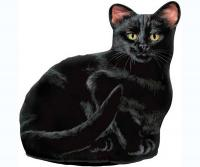 Fiddler's Elbow Black Cat Doorstop