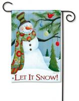 Magnet Works Let It Snow Garden Flag