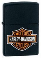 Zippo Black Matte Lighter, Harley Davidson Logo