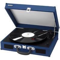 Jensen Jta410Bl Blue  Portable 3 Speed Stereo Turntable