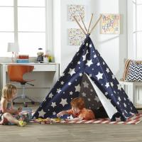Merry Products Children's Teepee, Blue with Stars