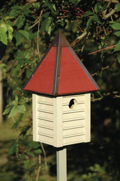 Heartwood Gatehouse Birdhouse, Smoke Grey