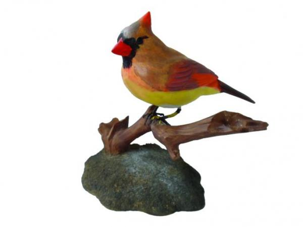 Female Northern Cardinal Carving