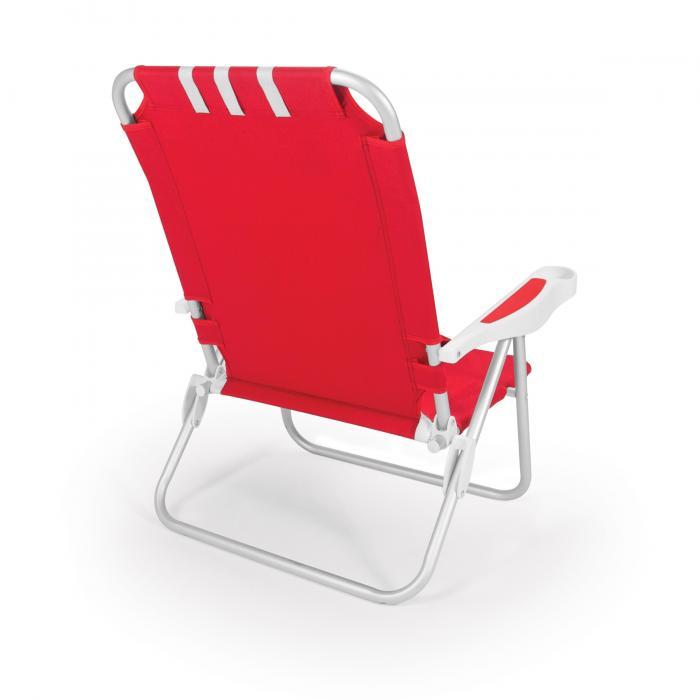 Picnic Time Monaco Beach Chair, Red