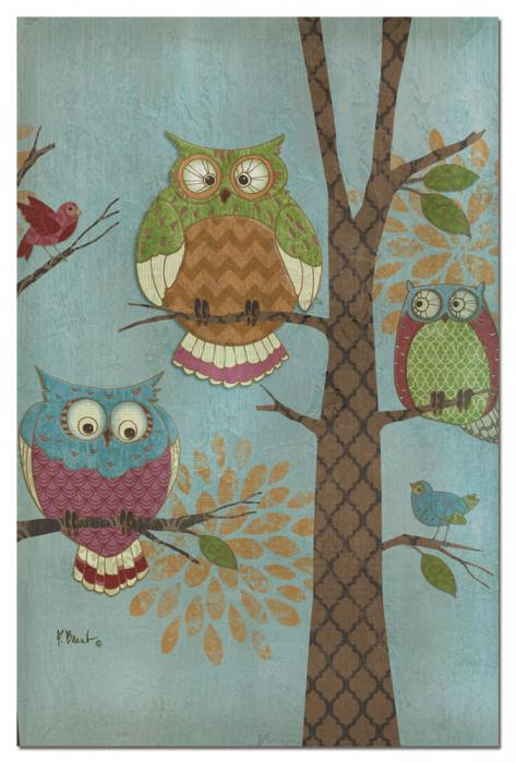 Tree Free Greetings Fantasy Owls Vertical Eco Note