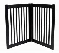 Large 2 Panel Free Standing EZ Pet Gate - Black