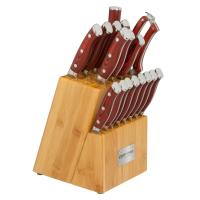 Ergo Chef Crimson 18pc. Knife Block Set - Red G10