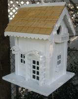 Home Bazaar Arbor Cottage Birdhouse - White