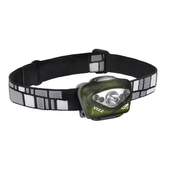 Princeton Tec Vizz Headlamp, Green, 165 lm, w/White/Red LEDs