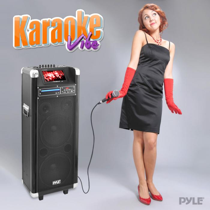 Pyle Pkrk212 Karaoke Vibe Bluetooth Multimedia Pa System With