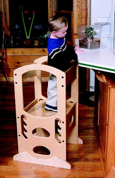 Little Partners Learning Tower, Children's Step Stool, Natural