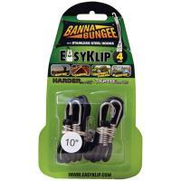 "EasyKlip Bannabungee Black 10"" 4 Pk"