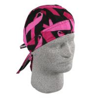 Flydanna 100% Cotton - Breast Cancer Pink Ribbon Black
