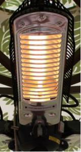 Fire Sense 3 x 500 Watt Power Umbrella Halogen Patio Heater, Indoor Or Outdoor Use