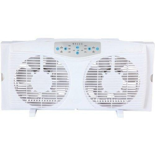Optimus 8 Inch Electric Twin Window Fan