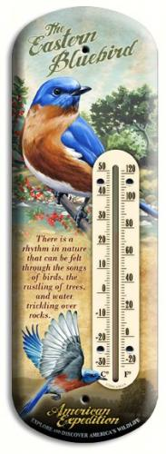 American Expeditions Bluebird Tin Thermometer