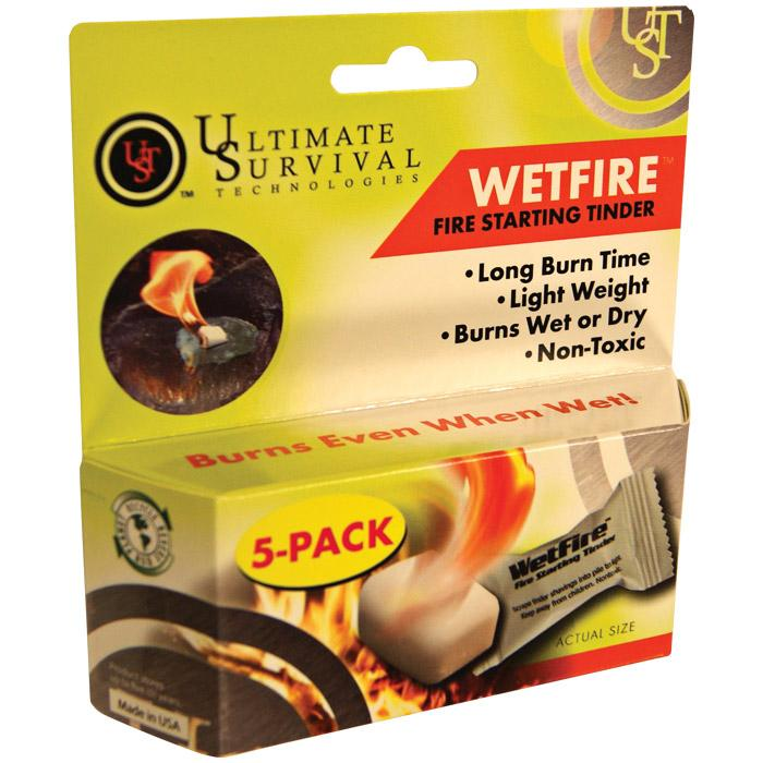 Ultimate Survival Wetfire Tinder, 5-pack