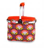 Picnic Plus Shelby Collapsible Market Cooler Tote - Orange Martini
