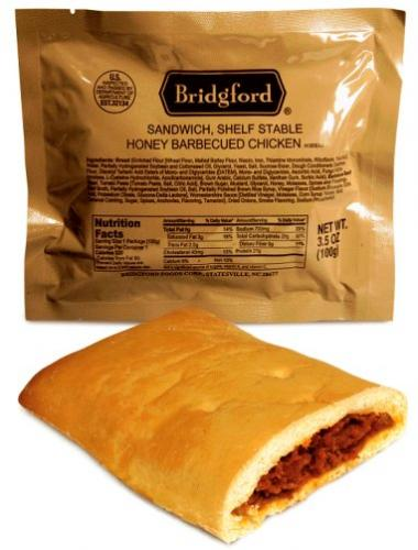 Bridgford BBQ Chicken Sandwich - Ready to Eat, Case of 48