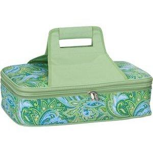 Picnic Plus Entertainer Hot & Cold Food Carrier - Green Paisley