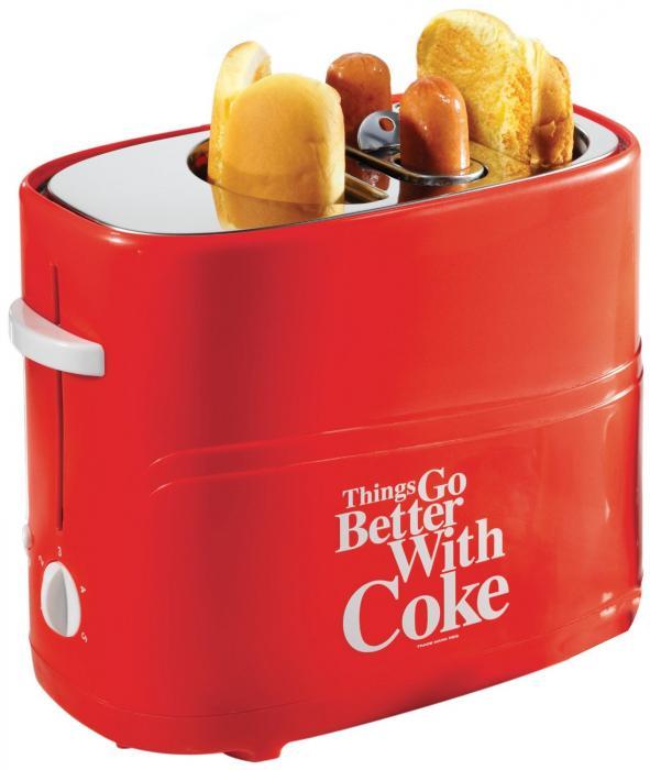 Nostalgia Electrics Coca-Cola Series HDT600COKE Pop-Up Hot Dog Toaster