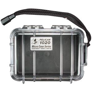 Pelican Products Micro Case Clear, Black, 6.38 x 4.75 x 2.13