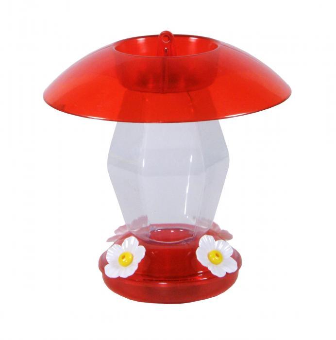 Hiatt Manufacturing 20 Ounce Jubilee Hummingbird Bird Feeder, Red