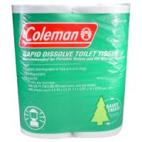 Coleman Toilet Paper, Biodegradable, No Dyes or Perfumes, 4/Pk