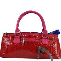 Primeware Wine Clutch - Hot Pink Croc