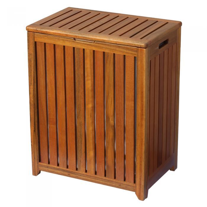 Oceanstar Spa-Style Wooden Laundry Hamper