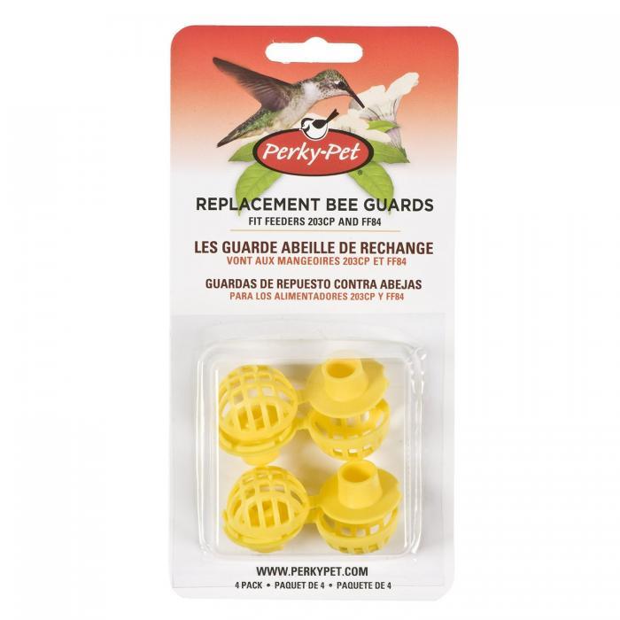 Perky Pet Yellow Bee Guards for Hummingbird Bird Feeders