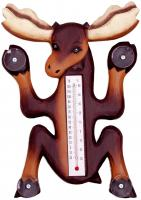 Songbird Essentials Climbing Moose Small Window Thermometer