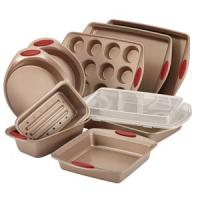 Rachael Ray 10-Pc Cucina Bakeware Set (Red)