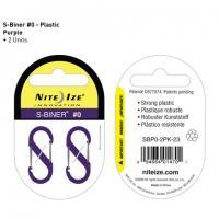 Nite-ize S-Biner, Plastic, Size 0, Purple